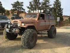 Beast! On Unimog Axles with aftermarket fenders. Toyota Land Cruiser FJ45LV.