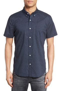 Free shipping and returns on AG Nash Cotton Sport Shirt at Nordstrom.com. A floral-dotted, bicep-baring sport shirt is cut slim for a crisp, modern profile and finished with a neat button-down collar.