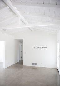 white walls, concrete floors - light gray                              …