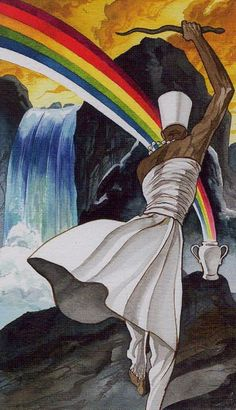 The Afro-Brazilian Tarot is dedicated to the divinities of the African Yoruban and Brazilian Candomble religions, and combines these and Santeria with the archetypes of Tarot. Yoruba Religion, Tarot Card Meanings, Orisha, Gods And Goddesses, Archetypes, Deities, Occult, Black Art, Spirituality