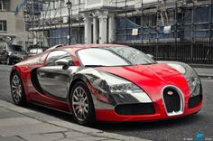Red & Chrome Bugatti Veyron