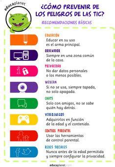Cómo prevenir de los peligros de las TIC by Eva Barceló #infografía #educación #niños #ordenadores