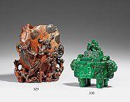 Lot 329  A large soapstone vase   Estimated price: € 800 - € 1.000-Asian Art - Kunsthaus Lempertz
