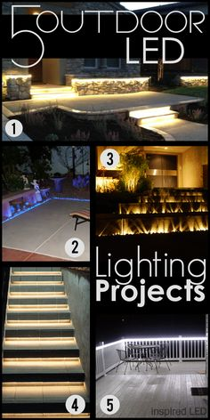 Enjoy the crisp night air of fall in safety with these #DIY lighting projects.