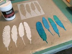 These are called skins. You use a stencil and go over it with light molding paste on your mat. Let dry depending on how thick you made them. You can paint them with almost anything. I used Lindy's sprays. Fun to make and to use.