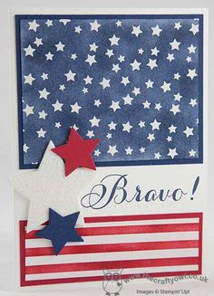The Crafty Owl | Irresistibly Yours Stars and Stripes Patriotic Card