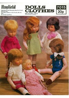 Knitting PATTERN Dolls clothes 14 inch and 18 inch by carolrosa, $1.85