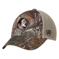 4664c7e7c3b Florida State Seminoles TOW Camo Mesh Prey Adjustable Snapback Hat Cap