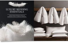 RH's Down & Basics:At Restoration Hardware, you'll explore an exceptional world of high quality unique bedding basics. Browse our selection of down feather pillow inserts, featherbeds, mattress pads & more at Restoration Hardware. Best Duvet Covers, Luxury Duvet Covers, Luxury Bedding, Modern Bedding, Linen Bedding, Bedding Sets, Bed Linens, Comforter, Linen Pillows