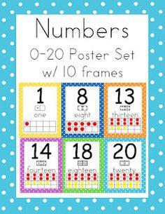 First Class Teacher: Make Mine Polka Dots Numbers 0-20 $2.00