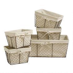 Diy Design, Design Ideas, Metal Chicken, Storage Baskets, Wire Storage, Kitchen Storage, Metal Baskets, Office Storage, Chicken Wire Baskets