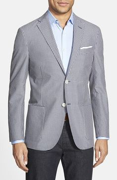 Men's Corneliani Classic Fit Cotton & Silk Sport Coat