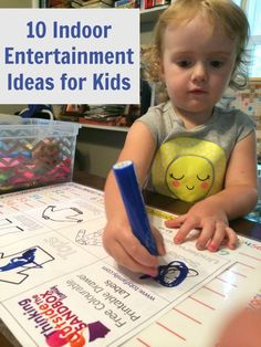 10 Indoor Entertainment Ideas for Kids - Thinking Outside The Sandbox Family DIY, Recipes, Autism, Kids