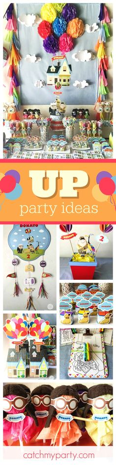 Hold on tight because we are going UP!! Check out the awesome backdrop!! See more party ideas and share yours at CatchMyParty.com