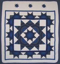 Star Stars Patchwork Amish Quilt 100x113