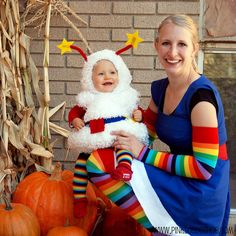 I can't even handle this...Rainbow Brite and Twink costumes by pink suede shoe!