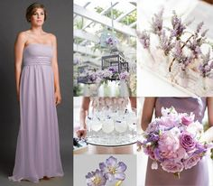 Lavender wedding inspiration board