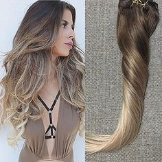 Balayage By Full Shine Clip In Ombre Hair Extensions-Full Shine Hair