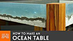Rein optisch sieht der Ocean Table schlicht grossartig aus – leider kostet der eine ganze Stange Geld. Youtube Nutzer Bob hat sich das Ding einfach selbst bastelt. Links zu den passenden Werkzeugen gibt es hier in der Videobeschreibung… I made a concrete/epoxy table that...