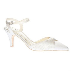Ivory Fashion Wide Fit Diamante Corsage Tbar - shoes - the bride ...