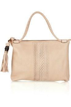 Gucci|Saddle woven-paneled leather bag|NET-A-PORTER.COM - StyleSays