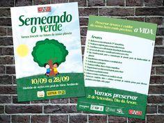 Folheto criado para o projeto Semeando o Verde.