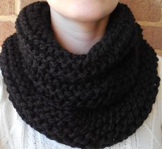 A personal favorite from my Etsy shop https://www.etsy.com/listing/166302524/black-knit-infinity-scarf