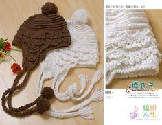 Children's Hats and free grids! Bonnet Crochet, Crochet Baby Hats, Crochet Beanie, Love Crochet, Knit Or Crochet, Learn To Crochet, Crochet For Kids, Crochet Crafts, Crochet Clothes