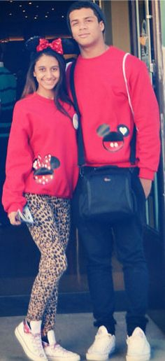 Mickey Mouse Couples Sweatshirt includes one sweatshirt of your choice. COLORS: WHITE, BLACK, RED, AND GRAY.    It shirt can be personalized for