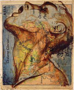 Map recreated into fabulous art piece.