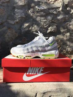 6378976b7a Nike Air Max 95 Premium sz 11.5 609048-138 Wolf grey  neon RARE color