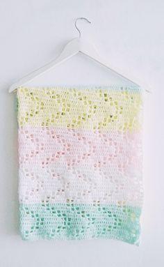 Hopscotch Crochet Blanket Pattern   AllFreeCrochetAfghanPatterns.com