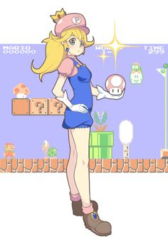 i want a game where i can play as peach and rescue princess mario