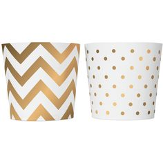 Delight Department White & Gold Food Cups (20 BRL) ❤ liked on Polyvore featuring metallic