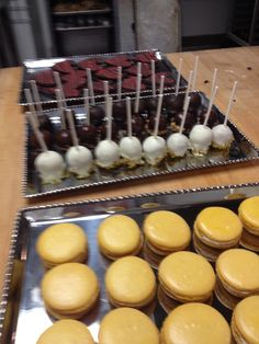 Passion Fruit French Macarons, Assorted Cake Pops