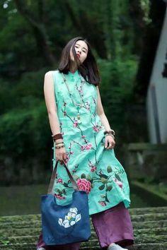 Green dress summer clothes