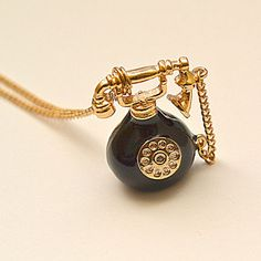 Vintage Telephone Necklace from leBaton now featured on Fab. Also see http://www.etsy.com/shop/leBaton