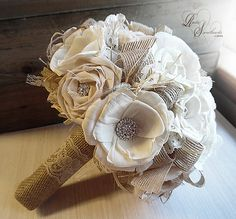Ready to Ship  Sola Rose Bouquet Sola Flowers by RusticSweethearts