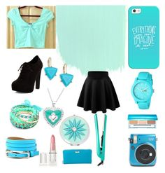 """""""Summer Teal"""" by brannablack on Polyvore featuring Estée Lauder, Kate Spade, Lacoste, Casetify, Ruby Rocks, Liz Claiborne, New Look, Paul Brown Hawaii, Rodin and ABS by Allen Schwartz"""