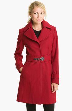 Via Spiga 'Dora' Pickstitch Detail Wool Blend Coat | Nordstrom-- Now we are talking... Way to cute!
