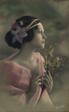 Tinted vintage photo