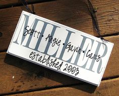 Personalized Family Wood Sign Home Decor by SaidInStoneOnline, $23.00