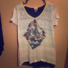 Size Large Daytrip shirt! Worn one time, size Large! Daytrip Tops Blouses