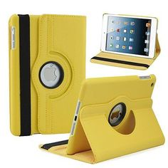 360 Rotating Magnetic Slim-Fit Smart Case Cover For Apple iPad Mini 1 2 3 Yellow