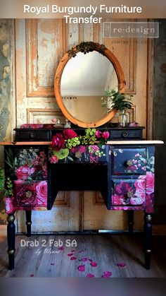 Decoupage Furniture, Funky Furniture, Refurbished Furniture, Repurposed Furniture, Unique Furniture, Shabby Chic Furniture, Furniture Makeover, Vintage Furniture, Furniture Design