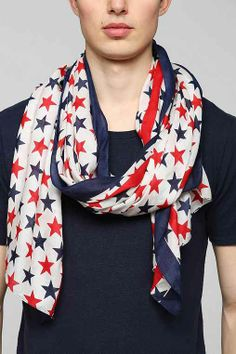 Stars & Stripes USA Scarf - Urban Outfitters