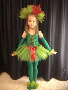 """Детские карнавальные костюмы ручной работы. Ярмарка Мастеров - ручная работа. Купить Новогодний костюм """"елочка"""". Handmade. Зелёный, туту"""