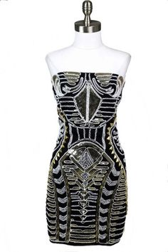 Black Magic Embellished Dress - Black + Multi  Wow. Fabulous.  Wish I could still pull this off!