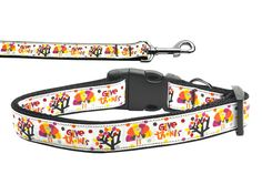 Nylon Dog Collar or Leash Give Thanks by DirtRoadDog on Etsy