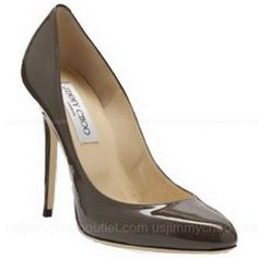 Jimmy Choo The Perfect Round Toe Coffee Shoes